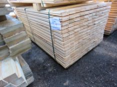 PACK OF UNTREATED SHIPLAP FENCE CLADDING BOARDS. 1.55M X 10CM APPROX.