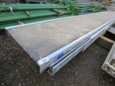 3 X YOUNGMAN TYPE STAGING BAORDS, 13-15FT APPROX LENGTH.