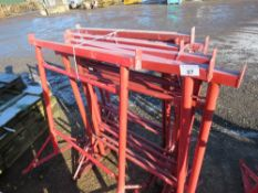 10 X RED BUILDER'S TRESTLE STANDS. DIRECT FROM LOCAL COMPANY DUE TO CLOSURE OF SMALL PLANT HIRE PART