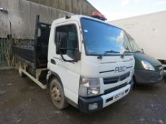 MITSUBISHI CANTER 7C15 7500KG TIPPER REG:GJ12 VYR (PRIVATE PLATE JUST REMOVED).56,611 REC MILES.