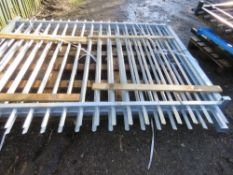 2 X GALVANISED BARBICAN SITE YARD SECURITY GATES. 2M HEIGHT X 2.5M WIDE EACH APPROX , 5M TOTAL WIDT