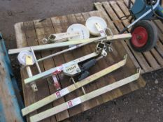 MANHOLE LIFTING TROLLEY AND SUNDRIES. SOURCED FROM SITE CLEARANCE PROJECT.