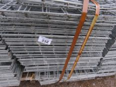 STACK CONTAINING APPROXIMATELY 100 X MESH PANLES. GALVANISED. 53CM X 137CM APPROX SIZE.