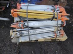 PALLET CONTAINING APPROXIMATELY 21 X SURVEY LEVEL TRIPODS.