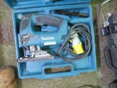 MAKITA 110VOLT JIGSAW IN CASE. SOURCED FROM SITE CLEARANCE PROJECT.