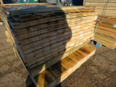 2X PACKS OF UNTREATED SHIPLAP TIMBER FENCE CLADDING. 1.43M -1.73M LENGTH X 10CM WIDTH APPROX.