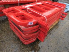 PALLET CONTAINING 9 X PLASTIC CHAPTER 8 BARRIERS, NO FEET.