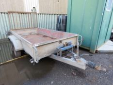 TWIN AXLED PLANT TRAILER WITH WINCH, 10FT X 5 FT APPROX. ID: 723377.