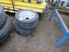 "2 X BRIAN JAMES 10"" TRAILER WHEELS AND TYRES."