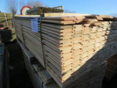 PACK OF UNTREATED SHIPLAP FENCE CLADDING BOARDS. 1.73M X 10CM APPROX.