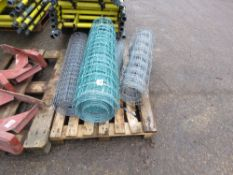 PALLET OF ASSORTED LIVESTOCK NETTING WIRE.
