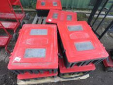 4 X TOOL BOXES/FIRE EXTINGUISHER BOXES .