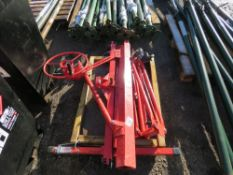 WHEELED PLASTER BOARD LIFTING STAND. DIRECT FROM LOCAL COMPANY DUE TO CLOSURE OF SMALL PLANT HIRE PA