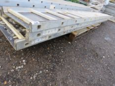 3 X YOUNGMAN TYPE STAGING BOARDS, 13FT APPROX LENGTH.