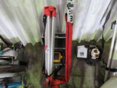 LASER LEVEL, TRIPOD AND STAFF. DIRECT FROM LOCAL COMPANY DUE TO THE CLOSURE OF THE SMALL PLANT SEC