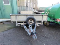 IFOR WILLIAMS LM146G/B BEAVER TAILED PLANT TRAILER WITH FULL WIDTH RAMP.