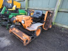 AGRIA WERKE RIDE ON CYLINDER MOWER MODEL 9300D. WHEN TESTED WAS SEEN TO DRIVE, STEER, MOWERS TURNED
