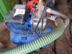 SPERONI 110VOLT POWERED ON-DEMAND WATER PUMP WITH PRESSURE VESSEL.