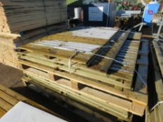 STACK OF 11 X ASSORTED FENCE PANELS.
