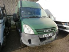 IVECO 3512S LONG WHEEL BASE HIGH TOP PANEL VAN, REG:GN08 JTX. 220,420 R5EC MILES. WHEN TESTED WAS SE