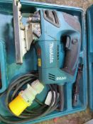 MAKITA 110VOLT JIGSAW. SOURCED FROM SITE CLEARANCE PROJECT.