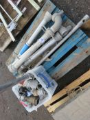 PALLET CONTAINING STAND PIPES AND PIPE COUPLINGS. SOURCED FROM SITE CLEARANCE PROJECT.