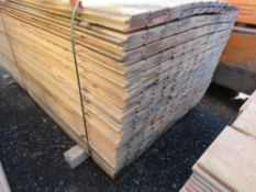 PACK OF UNTREATED SHIPLAP FENCE CLADDING BOARDS. 1.731M X 10CM APPROX.