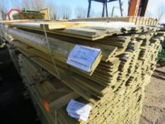 SMALL PACK OF SHIPLAP FENCE CLADDING BOARDS. 1.83M X 10CM APPROX.