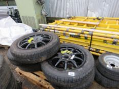 5 X LANDROVER TYPE SPACE SAVER WHEELS 195/70R20.