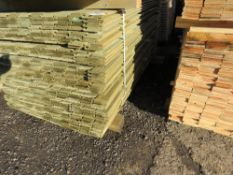 PACK OF TREATED SHIPLAP FENCE CLADDING BOARDS. 1.73M X 10CM APPROX.