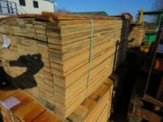 PACK OF UNTREATED MACHINED FLAT FENCE CLADDING BOARDS. 1.44M X 10CM APPROX.