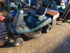 HAYTER RIDE ON MOWER WITH COLLECTOR. WHEN TESTED WAS SEEN TO DRIVE AND BLADES TURNED.