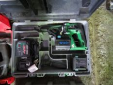 HITACHI DH24DVA BATTERY DRILL SET. SOURCED FROM DEPOT CLEARANCE PROJECT.
