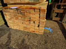 PACK OF UNTREATED MACHINED FLAT FENCE CLADDING BOARDS. 1.74M X 10CM APPROX.