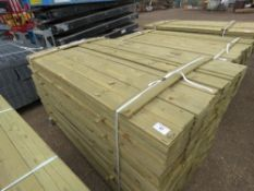EXTRA LARGE PACK OF TREATED FEATHER EDGE FENCE CLADDING TIMBER, 1.80M LENGTH X 10CM APPROX.
