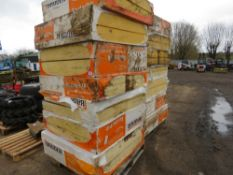 14 PACKS OF 1.2M X 1.2M INSULATION BOARDS, MIXED SPECIFICATION 11-19CM THICKNESSES.