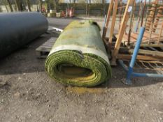 ROLL OF ASTRO TURF/UNDERLAY SHEET, 7FT WIDE APPROX.