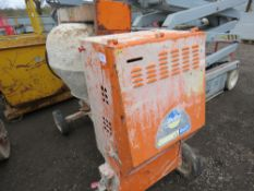 BELLE DIESEL SITE MIXER WITH LISTER LT1 HANDLE START ENGINE, WITH HANDLE. WHEN TESTED WAS SEEN TO