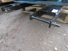 PAIR OF FORKLIFT EXTENSION SLEEVES/TINES, 1.8M LENGTH (6FT) WITH SECURING PINS.