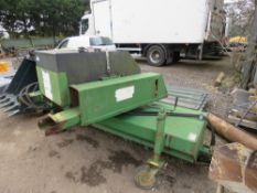 SUTON CONTRACTOR FORKLIFT MOUNTED ROAD BRUSH WITH WATER TANK. SURPLUS TO REQUIREMENTS.