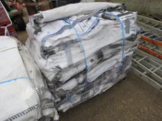 PALLET CONTAINING APPROXIMATELY 75 X 1 TONNE/2 CUBIC METRE FIBC BULK BAGS, SINGLE USE PREVIOUSLY FOR