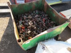 STILLAGE CONTAINING APPROXIMATELY 205 SCAFFOLD CLIPS.