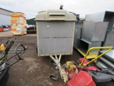 """SMALL SIZED LIVESTOCK TRAILER, 6FT X 3FT6"""" APPROX, SINGLE AXLED."""
