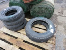 6 X TYRES OF ASSORTED SIZES: 2@4.00-12 PLUS 4@4.00-9.