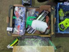 BOX OF TOOLS AND SUNDRIES.