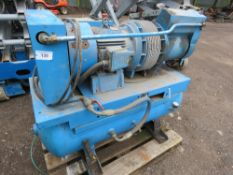 LARGE OUTPUT HYDROVANE TYPE WORKSHOP COMPRESSOR. 3 PHASE. WORKING WHNE REMOVED.