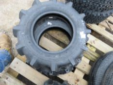 2NO 5.00-12 AGRICULTURAL COMPACT TRACTOR TYRES, LITTLE USED.