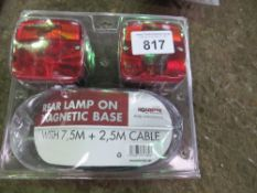 PAIR OF MAGNETIC TRAILER LIGHTS.