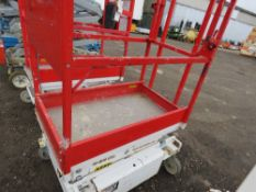 HYBRID HB830 SCISSOR LIFT ACCESS PLATFORM, 14FT MAX WORKING HEIGHT. SN:E05100218. DIRECT FROM COMPAN