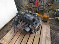 MINI PETROL ENGINE. BELIEVED TO BE FROM MINI COOPER CAR THAT WAS DAMAGED IN THE REAR AND WRITTEN OFF